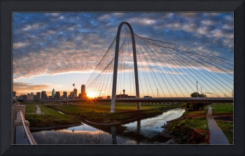 Dallas Sunrise Skyline Pano