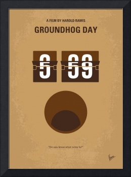 No031 My Groundhog minimal movie poster