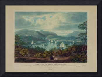 West Point, from Philipstown by W.J. Bennet (1831)