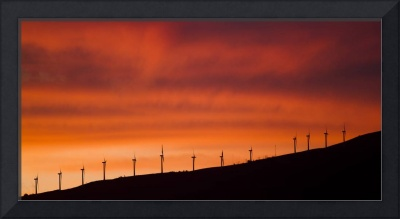 Maui Windfarm Sunset