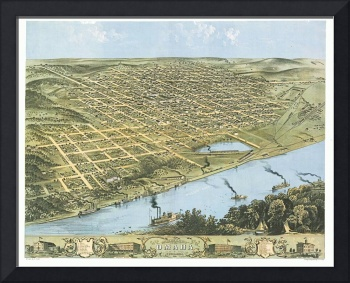 Omaha Nebraska Panoramic Map