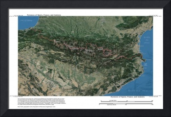Pyrennes, Andorra, Spain and France