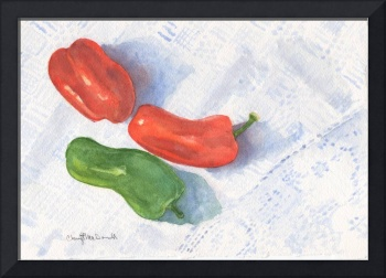 Peppers on a Hungarian Shawl