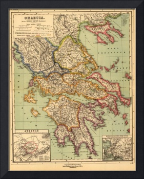 Vintage Map of Greece (1903)