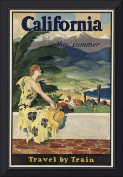 California Vintage Travel Poster Ad Retro Prints