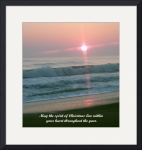 First Light Christmas Card by Jacque Alameddine