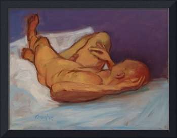 Male Nude in Violet Room