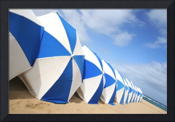 Beach Umbrella Row