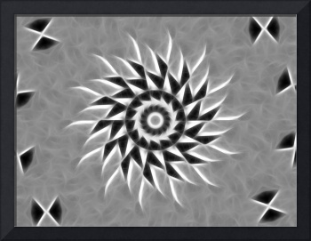Gray Kaleidoscope Art 21