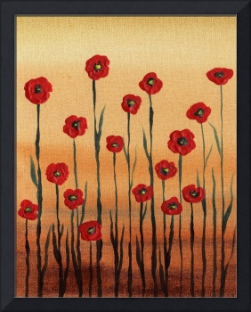 Red Poppies Abstract Painting Decor