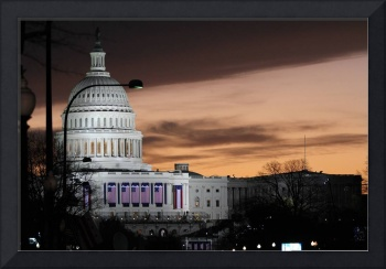United States Capitol Building at Dusk