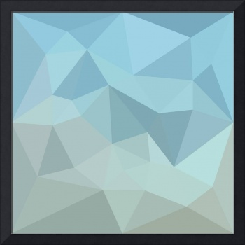 Cadet Blue Orange Abstract Low Polygon Background