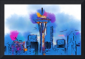 The Space Needle In Soft Abstract
