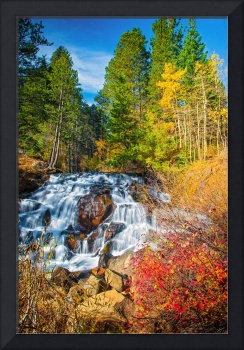 Autumn Cascades in the Sierra