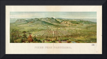 1890 Pikes Peak Colorado Springs, CO Panoramic Map