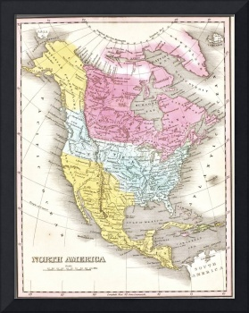 Map of North America 1829