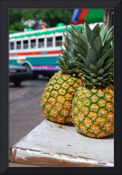 Pineapples and a Bus