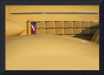 1930s Yellow Cadillac V8