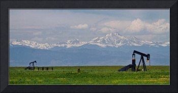 Rocky Mountain Front Range Oil Panorama