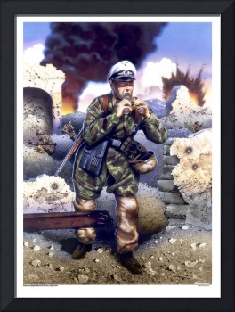 Fallschirmjager Officer, Monte Cassino, 1944.