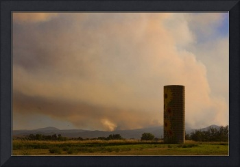 Sunflower Silo with the Four Mile Canyon Fire