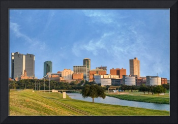 Fort Worth Skyline Along Trinity