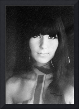 Cher Charcoal 1967