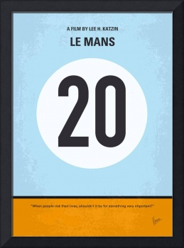 No038 My Le Mans minimal movie poster