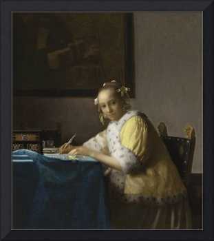 A Lady Writing a Letter ca. 1665 Johannes Vermeer
