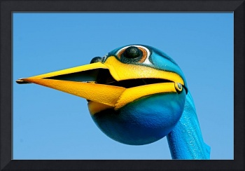 Big Blue and Yellow Bird