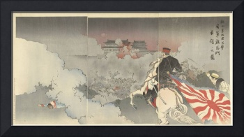 Allied forces attacking Beijing; Japanese troops a