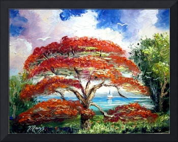 Royal Poinciana Sailboat