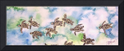 baby sea turtles painting