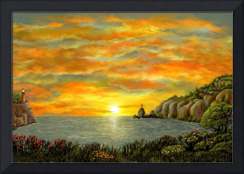 Sunset  of Hope by Ave Hurley