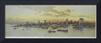 Vintage Pictorial View of NYC (1896)