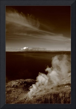 Yellowstone Lake and Geysers