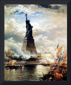 Statue of Liberty Unveiled by Edward Moran