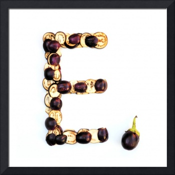 Kitchen Alphabet. Letter E.