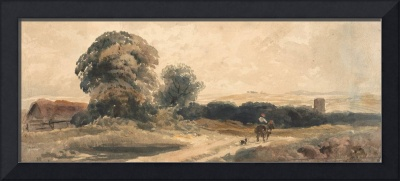Peter DeWint~A Country Road with Traveller on Hors