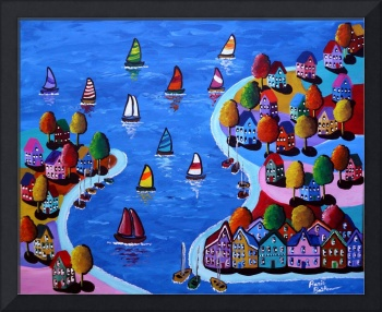 Whimsical Sail Scene