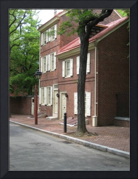 Early American House in Old City, Philadelphia