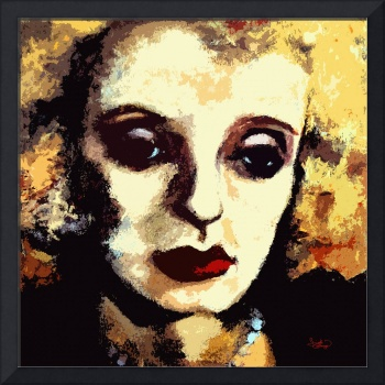 Bette Davis Original Art by Ginette