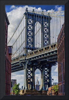 Manhattan Bridge with the Empire State Building