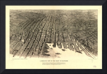 Vintage Map of Baltimore Maryland (1912)
