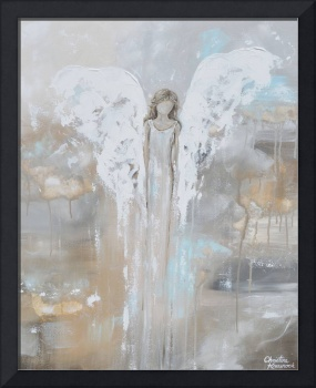 With Courage in Her Heart - Angel Painting