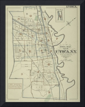 Vintage Map of Utica New York (1883)