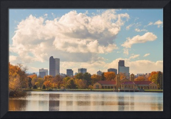 Denver Colorado Skyline Autumn View