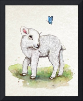 Little Lamb in Watercolor