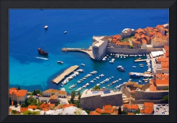 Dubrovnic harbour  in Croatia