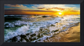 Panoramic Landscape with Beautiful Sunset Prints